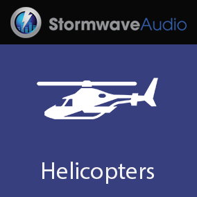 A set of 10 seamlessly looping recordings of a Sea King helicopter hovering overhead.