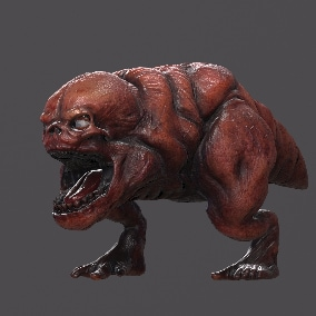 Hell Dog Low-poly monster