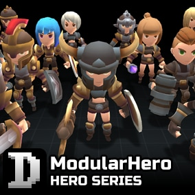 Modular character assets to give you a quick start in building your own little hero