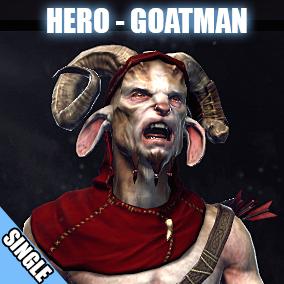 Hero character model of a royal herdsman Goatman