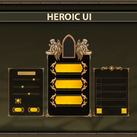 Heroic UI is a complete art set of UI components.
