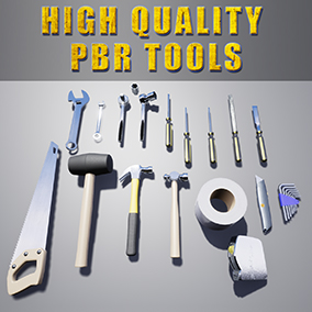A set of 16 High Quality Tool Meshes