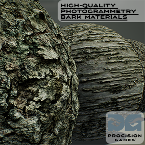 In the High-Quality Photogrammetry Bark Materials asset package you will find 8 materials from various trees with textures ranging from 4K to 512.