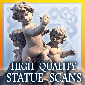 A high quality scans pack of 7 sculptures