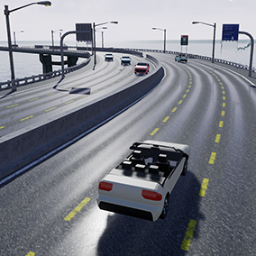 Highway procedural generator with simple vehicle traffic. Create wide highway or road with vehicle traffic in 15 minutes!