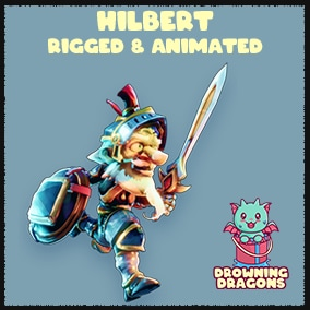 Hilbert! - A Fully Rigged & Animated Stylized PBR Knight
