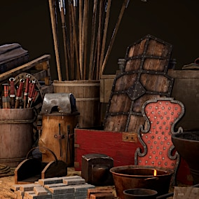 Asset pack containing 144 high-quality, optimized props for use with any Asian/Oriental/Medieval/Fantasy/Historical themed project.