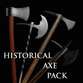 A set of 12 realistic axes from medieval and early modern period.