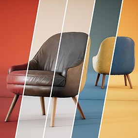 A collection of twenty-four chairs with high quality materials ready to use in your projects!