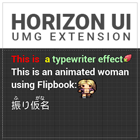 This Plugin contains some extension for UMG Widget.