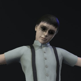 A boy character for a horror game