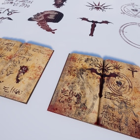 Horror Decal Pack / Book props