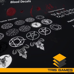 Horror Decal Pack / AI SOURCES - Advanced customizable decal pack,these materials contain high quality.