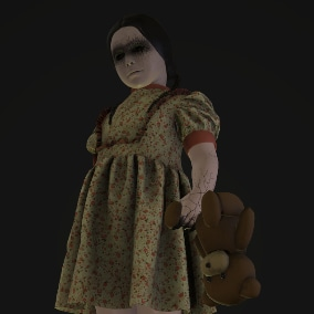 A girl character for a horror game