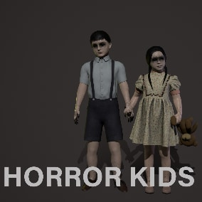 Boy and girl for your horror game