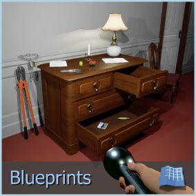 Horror Mechanics is a template for first person horror games that includes most popular mechanics such as interactive drawers, doors, lights, puzzles, examinable objects and more.