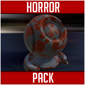 Hi-Res Horror-themed Customizable Materials