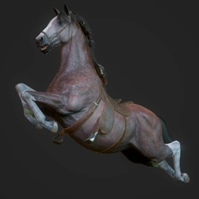 This pack includes animated Stallion ready to populate your game world.
