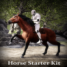 Animals for your game environments by Living Systems. Add rideable horses to your game. Entire pipeline included, very customizable.