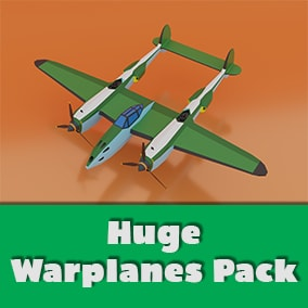 The pack contains 70 lowpoly airplanes