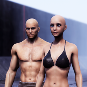 This package inlcuded Male and Female base meshes