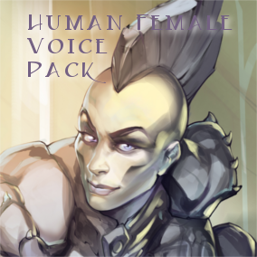 This human female voice pack contains over 262 individual voice assets of a human female for your RPG, fantasy game or movie project including spell incantations..
