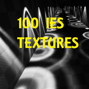 A 100 Pack of IES Textures.