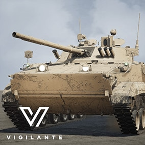 The IFV BMP3 Infantry Fighting Vehicle comes with Desert and Forest textures, is fully rigged, has animated tracks, hatches, and turret with a 100 mm gun.  This vehicle is DIS/HLA (RPR FOM) Integration ready. Designed for simulations.