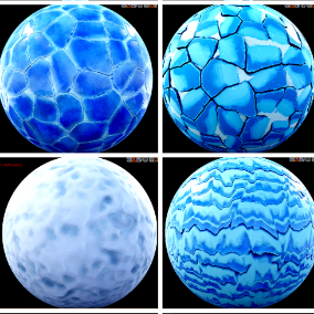 Ice Land: 11 stylized materials