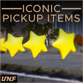 This pack contains a complete Blueprint framework to create Pickup items in your games right away. More than 30 Static meshes and 100% Drag and drop.