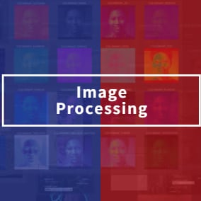 Process the image -color mapping, image contour recognition, mosaic, frosted glass, oil painting, sketch, relief, lens, blur, face detection, cat face detection, license plate detection, etc.