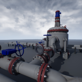 High quality PBR models, for the creation of industrial landscapes with modular pipes.