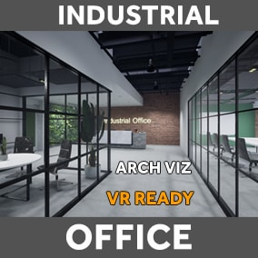 High quality optimized models for Archviz and VR ( Industrial Office Design Concepts)