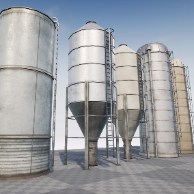 Industrial Silos Structures for Exterior Decoration