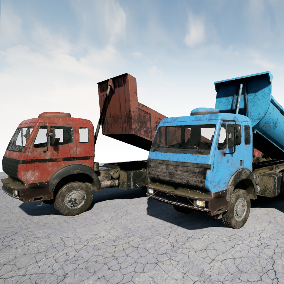 Industrial trucks (abandoned / post-apocalyptic)
