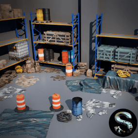 High quality props pack, for the creation industrial environment, stores, etc.