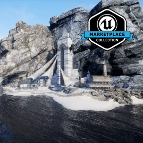 Infinity Blade: Hideout is a collection of high-quality cliff and cave props, materials and textures optimized for mobile platforms. Built from a collection of content from Infinity Blade I, II and III.
