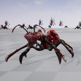 Insect low poly model