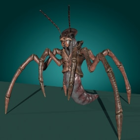Low-poly model creature Insect Worm Monster