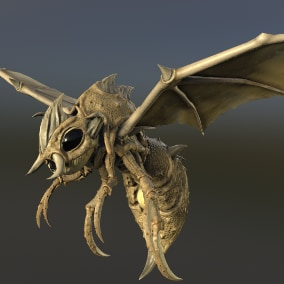 Animated low poly model insect.