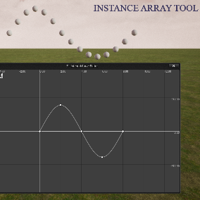 Instance Array Tool provides some advance abilities of editing Hierarchical instanced static mesh and Instanced Static mesh component instances inside Unreal Engine 4.