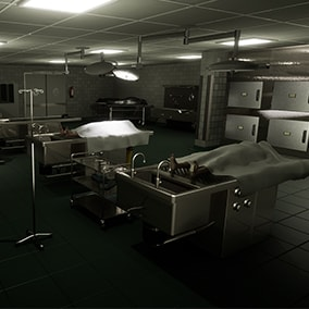 Fully functional autopsy room, for any type of games