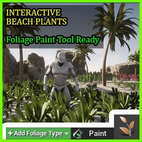 Interactive Beach Plants with Foliage Tool Ready