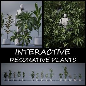 Interactive decorative plants