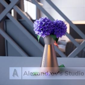 Archviz with high quality assets in modern design.