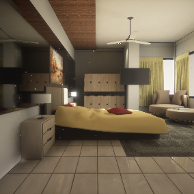 Interior Bedroom Props for Architectural Visualization.