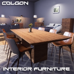 Interior Furniture Assets for use in Architecture Interiors or in Games.