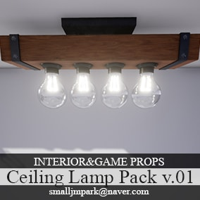 Interior&Game Ceiling Lamp Pack v.01