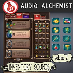 114 High-Quality inventory/UI sounds for your RPG games