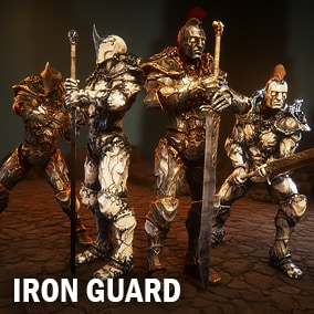 """Here is two kinds of the Iiron guardian-golems who know only one word - """"Duty"""". Each have two kinds of the materials. Resolution of all textures are 8192."""